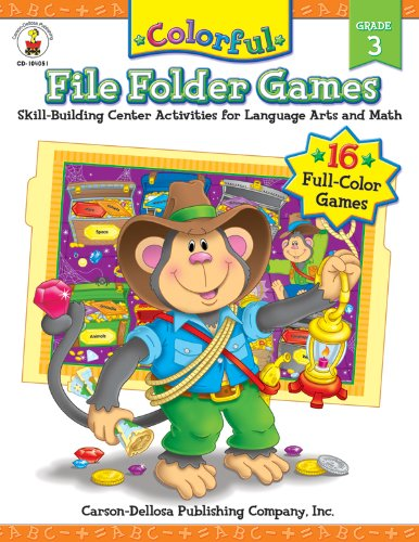 9781594410901: Colorful File Folder Games, Grade 3: Skill-Building Center Activities for Language Arts and Math (Colorful Game Books)