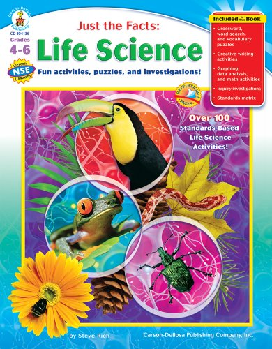 Just the Facts: Life Science, Grades 4 - 6: Fun activities, puzzles, and investigations!: Steve ...