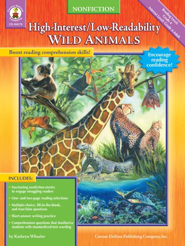Wild Animals: High-Interest/Low-Readability Nonfiction (1594413185) by Kathryn Wheeler