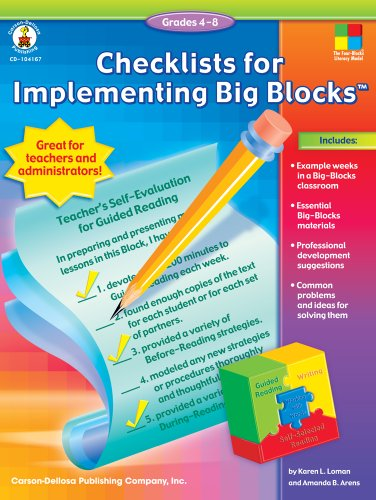 9781594413797: Checklists for Implementing Big Blocks™, Grades 4 - 8