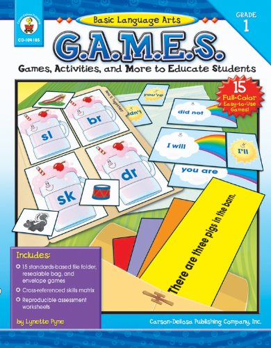 9781594414787: Basic Language Arts G.A.M.E.S., Grade 1: Games, Activities, and More to Educate Students