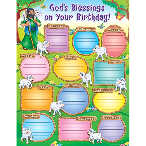 9781594414954: God's Blessings on Your Birthday! Chart