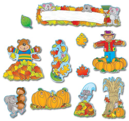 9781594416231: Fall Mini Bulletin Board Set