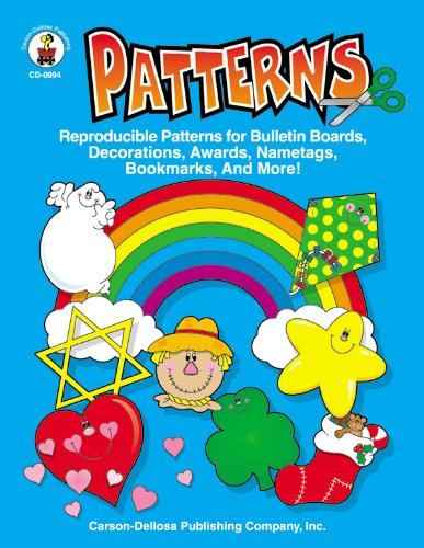 9781594416514: Patterns, Grades PK - 5: Reproducible Patterns for Bulletin Boards, Decorations, Awards, Nametags, Bookmarks, And More!