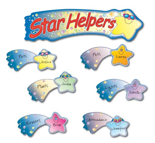 Classroom Cleaners Design ~ Star helpers bulletin board set by carson dellosa