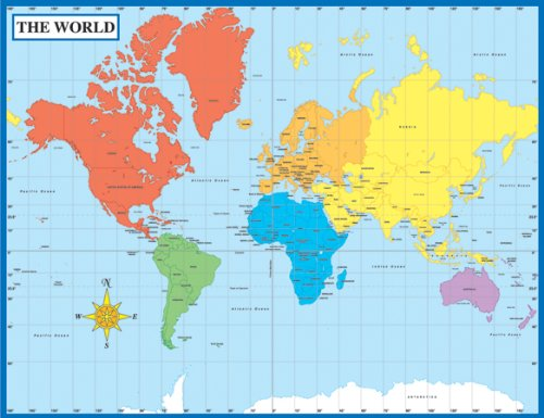 9781594418792: Map of the World Chart