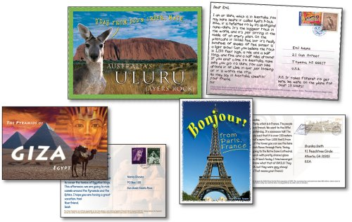 9781594419249: Postcards from Around the World Bulletin Board Set