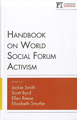 9781594519468: Handbook on World Social Forum Activism (Paradigm Handbooks)