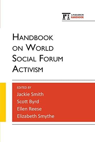 9781594519475: Handbook on World Social Forum Activism (Paradigm Handbooks)