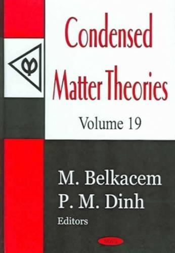 Condensed Matter Theories: v. 19 (Hardback): M. Belkacem, P. M. Dinh