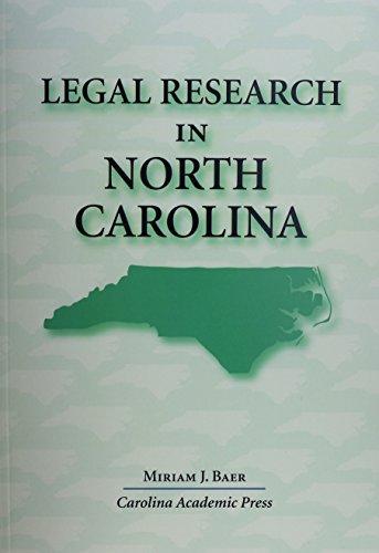 Legal Research In North Carolina