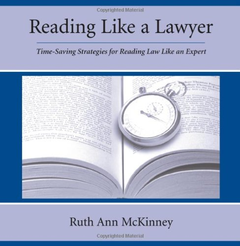 9781594600326: Reading Like A Lawyer: Time-Saving Strategies For Reading Law Like An Expert