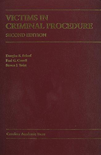 9781594601149: Victims In Criminal Procedure (Carolina Academic Press Law Casebook)