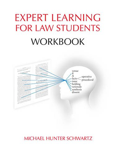 9781594601545: Expert Learning for Law Students Workbook