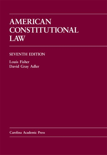 9781594603716: American Constitutional Law, Seventh Edition (Law Casebook Series)