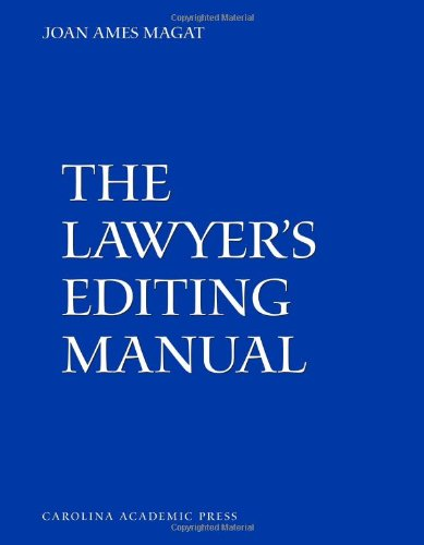 9781594605383: The Lawyer's Editing Manual