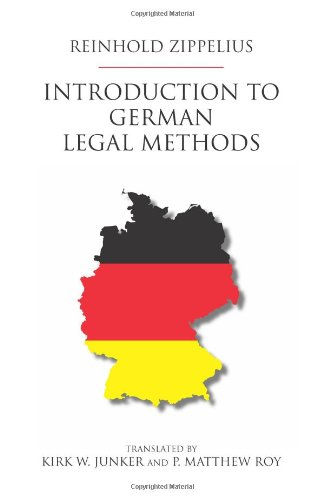 9781594605390: Introduction to German Legal Methods