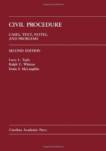 9781594605468: Civil Procedure: Cases, Text, Notes and Problems