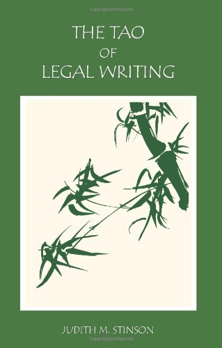 9781594606335: The Tao of Legal Writing