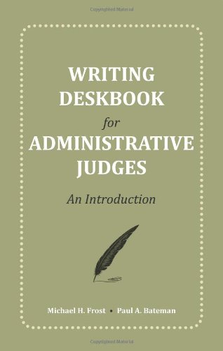 9781594606663: Writing Deskbook for Administrative Law Judges: An Introduction.