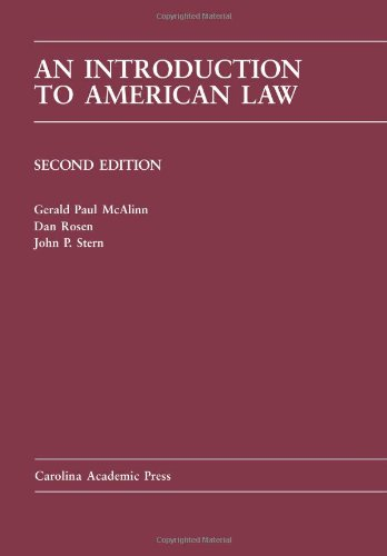 9781594607141: Introduction to American Law (Carolina Academic Press Law Casebook)
