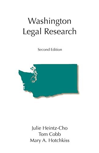9781594607189: Washington Legal Research