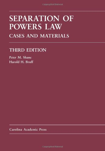 9781594607417: Separation of Powers Law: Cases and Materials