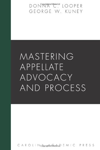 9781594608018: Mastering Appellate Advocacy and Process (Carolina Academic Press Mastering)
