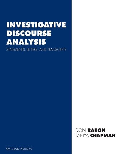 9781594609121: Investigative Discourse Analysis: Statements, Letters, and Transcripts