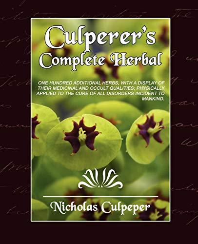 9781594627729: Culpeper's Complete Herbal