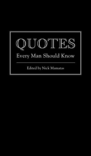 9781594746369: Quotes Every Man Should Know (Stuff You Should Know)