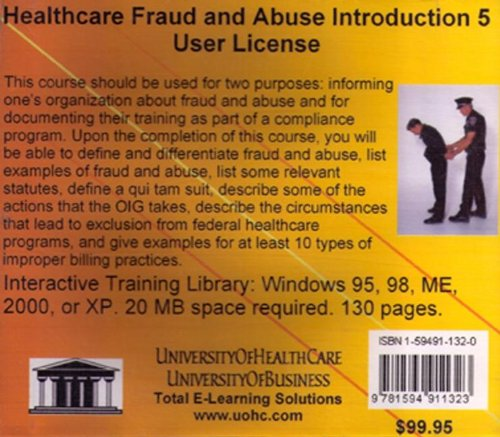 9781594911323: Healthcare Fraud and Abuse Introduction 5 Users: Healthcare Billing Compliance Training and Planning for Small Practices to Hospitals and Health for Medicare, Medicaid, and Private Insurance