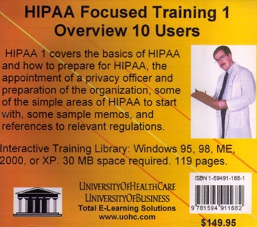 HIPAA Focused Training: Overview No. 1: Farb, Daniel