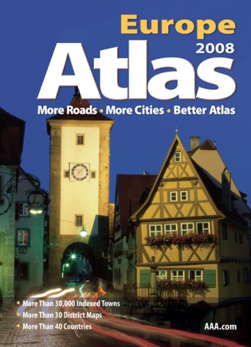 9781595082541: AAA 2008 Europe Road Atlas (AAA Atlas)