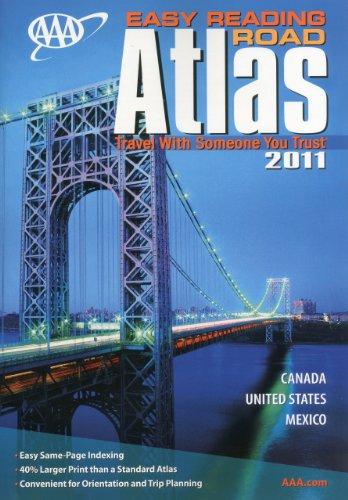 9781595083760: AAA Easy Reading Road Atlas 2011 (AAA North American Road Atlas (Large Print))