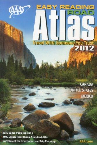 9781595084415: AAA Easy Reading Road Atlas 2012