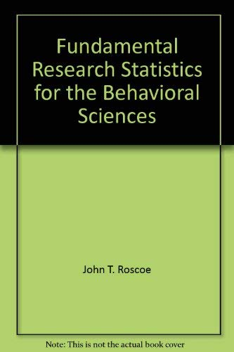 9781595290113: Fundamental Research Statistics for the Behavioral Sciences
