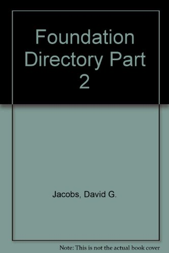 9781595420206: Foundation Directory Part 2