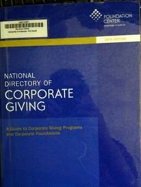 9781595424112: National Directory of Corporate Giving