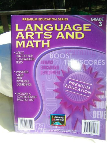 9781595450289: Math and Language Arts, Grade 3 (Premium Education Workbooks)