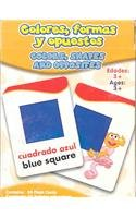 9781595450593: Sesame Street Colors Shapes Opposites Flash Cards (Spanish Edition)