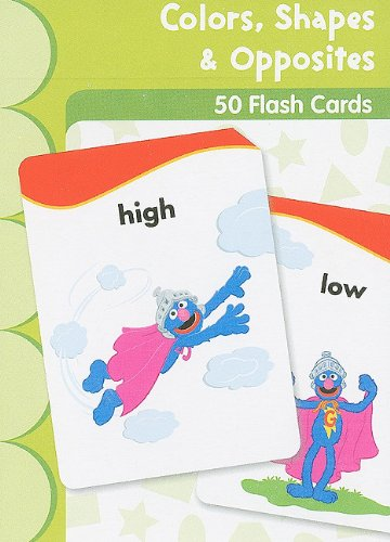 9781595455932: Sesame Street Colors, Shapes & Opposites Flash Cards