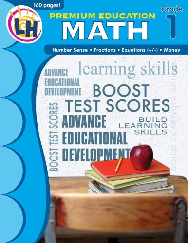 9781595456625: Math: Grade 1 (Premium Education Workbooks)