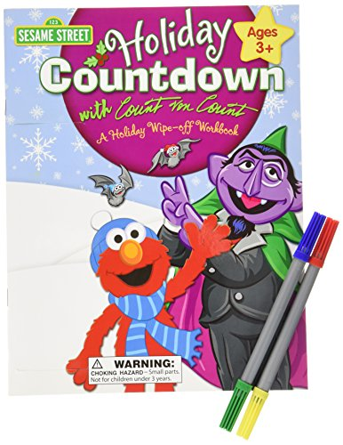 9781595458322: Sesame Street Holiday Countdown With Count Von Count: A Holiday Wipe-off Workbook