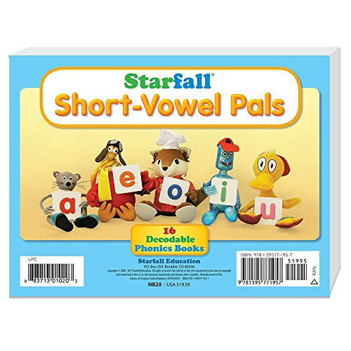 9781595771957: Starfall Short-Vowel Pals 16 Decodable Phonics Books