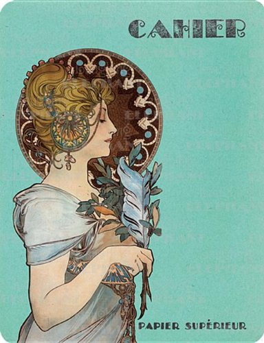 9781595831439: Alphonse Mucha French Notebook, Pack of 4 (French Notebooks)