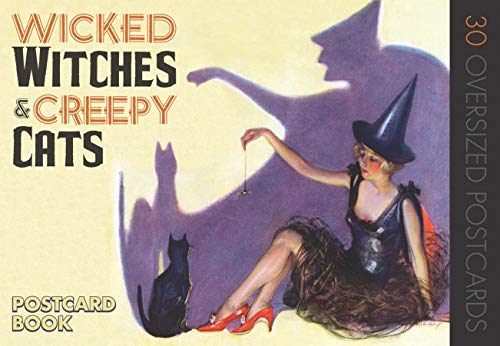 9781595834515: Wicked Witches and Creepy Cats: A Halloween Postcard Book
