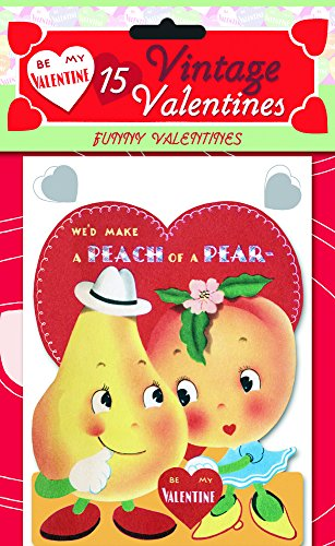 9781595834560: 15 Vintage Valentines: Funny Valentines: 15 Die-Cut Cards in Bag with Decorated Envelopes (Valentine's Day)