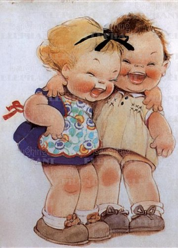 9781595834874: Little Girls Laughing - Birthday Greeting Card