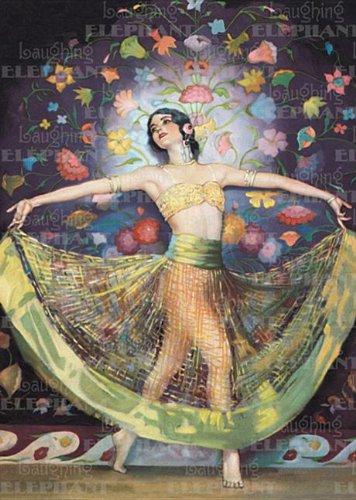 Dancing Woman C. 1920: Greeting Card 6: Coles, Joyce (Illustrator)